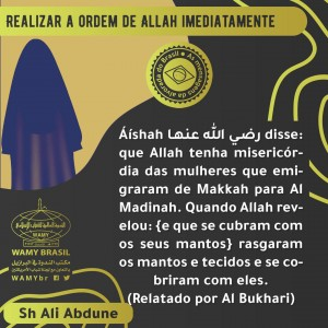 Realizar a ordem de Allah imediatamente
