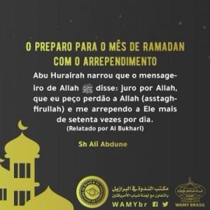 O preparo para o mês de Ramadan com o arrependimento