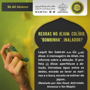 """Regras no jejum: colírio, """"bombinha"""", inalador ?"""