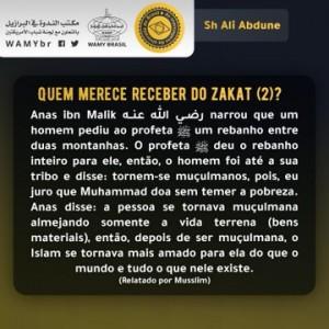 Quem merece receber do zakat (2)?
