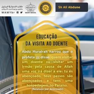 Educação da visita ao doente
