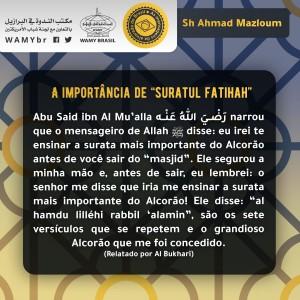 """A importância de """"suratul fatihah"""""""