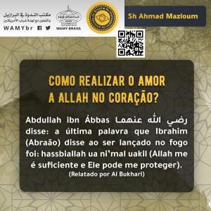 Como realizar o amor a Allah no coração?